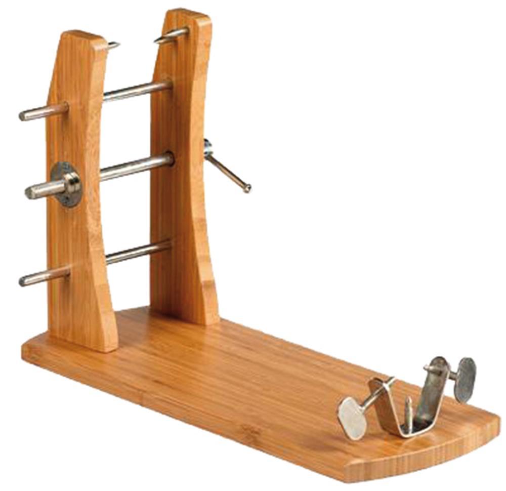 schinkenhalter aus bambus und edelstahl tom press. Black Bedroom Furniture Sets. Home Design Ideas